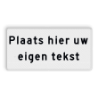 Tekstbord met 2 regels eigen tekst - wit/zwart