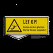 Waarschuwingsbord Gladde vloer - eigen opdruk