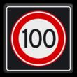 Verkeersbord RVV A01 100s - Maximum snelheid 100 km/h