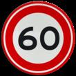 Verkeersbord RVV A01-060 - Maximum snelheid 60 km/h