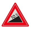 Verkeersbord RVV J06 - Vooraanduiding Steile Helling