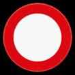 Verkeersbord SB250 C3 - Verboden toegang