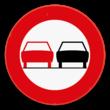 Verkeersbord SB250 C35 - Verbod een voertuig links in te halen