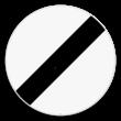 Verkeersbord SB250 C46 - Einde van alle plaatselijke verbodsbepalingen opgelegd aan de voertuigen in beweging