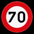 Verkeersbord SB250 C43 - Verbod te rijden met een grotere snelheid dan is aangeduid
