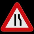 Verkeersbord SB250 A7c - Rijbaanversmalling rechts
