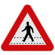 Verkeersbord SB250 A21 - Oversteekplaats voor voetgangers