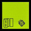 Reflecterende folie FLUOR Geel-Groen klasse 3 T-7513