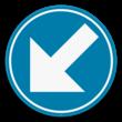 Verkeersbord SB250 D1c - Verplicht links aanhouden