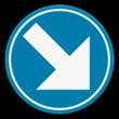 Verkeersbord SB250 D1d - Verplicht rechts aanhouden