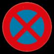 Verkeersbord SB250 E3 - Stilstaan en parkeren verboden