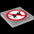Symbooltegel 300x300mm - Aanduiding verboden voor honden