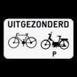 Verkeersbord SB250 M11 - Uitgezonderd fietsers en speed pedelecs