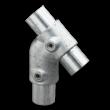 45 graden T-stuk - Buiskoppeling verzinkt staal