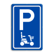 Verkeersbord E08 parkeerplaats scootmobiel