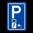 Verkeersbord RVV E08o - Parkeerplaats met oplaadpunt