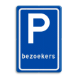 Verkeersbord RVV E04a - Parkeerplaats Bezoekers - BT10