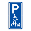 Verkeersbord parkeerplaats voor Invalide en/of Gezinnen