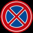 Verkeersbord RVV E02 - Verbod stil te staan