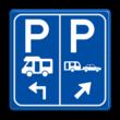 Parkeerbord E8n Camper en caravan met pijl
