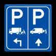 Parkeerbord E07 vrachtwagen en transporterbusje met pijlen