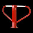 Antiparkeerbeugel - rood of verzinkt - neerklapbaar met driekantsslot