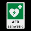 AED aanwezig bord met tekst | E010
