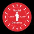 Vloersticker - Social distancing