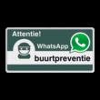WhatsApp Attentie Buurtpreventie Informatiebord 05 basic - L209wa-g