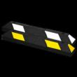 Parkeerstop rubber 900x150x100mm - reflecterend geel of wit