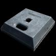 Kunststof sokkel - Mini foot 400x400x100mm - 15 kg