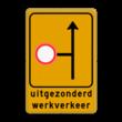 Omleidingsbord - WIU L10-01rdC01t-ob - uitgezonderd werkverkeer