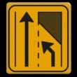 Omleidingsbord WIU T32-2l geel/zwart