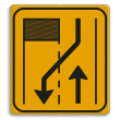Omleidingsbord WIU T31-2r geel/zwart