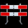 Afzethek 1500mm KLAPBAAR EASY klasse 3 rood/wit