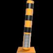 Rampaal staal - flexibel tot 15 graden - Ø152mm met voetplaat - geel/zwart