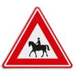 Verkeersbord - waarschuwing vallende ruiters