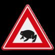 Verkeersbord - waarschuwing overstekende padden