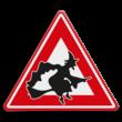 Verkeersbord overstekende heksen