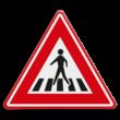 Verkeersbord RVV J22 - Vooraanduiding voetgangers-oversteekplaats