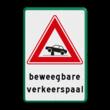 Verkeersbord RVV J39 - Vooraanduiding verkeerspaal + ondertekst