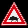 Verkeersbord - waarschuwing voor Everzwijnen