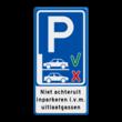 Verkeersbord - Niet achteruit inparkeren (vooruit inparkeren)