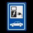 Verkeersbord RVV BW101_SP19 - auto laadpunt