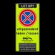 Bord E2 + Laden/Lossen uitzondering + pictogrammen & tekst