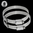 RVS klembanden - Anti-diefstal tam-torque - Variabele diameter - Set 2 stuks