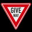 Verkeersbord GIVE WAY