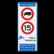 Informatiebord - verboden voor vrachtverkeer - snelheid - videobewaking - Art. 461