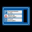 Route-, informatiebord 900x600 met uitsparingen voor 3x verkeerslicht - 2xø100mm