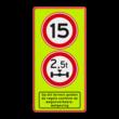Verkeersbord A01 + C20 + ondertekst